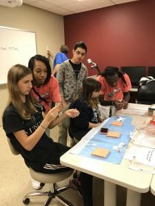 high school nursing students
