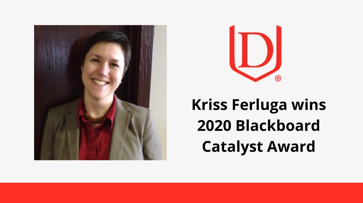 Davenport University's Kriss Ferluga wins 2020 Blackboard Catalyst Award
